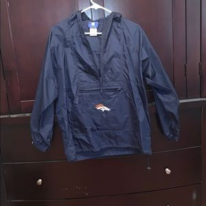 NFL Denver Broncos wind breaker, 1/4 Zip w/ pocket